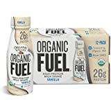 Organic Valley, Organic Fuel High Protein Milk Shake, 26G Protein, Vanilla, 11 Ounces (Pack of 12)