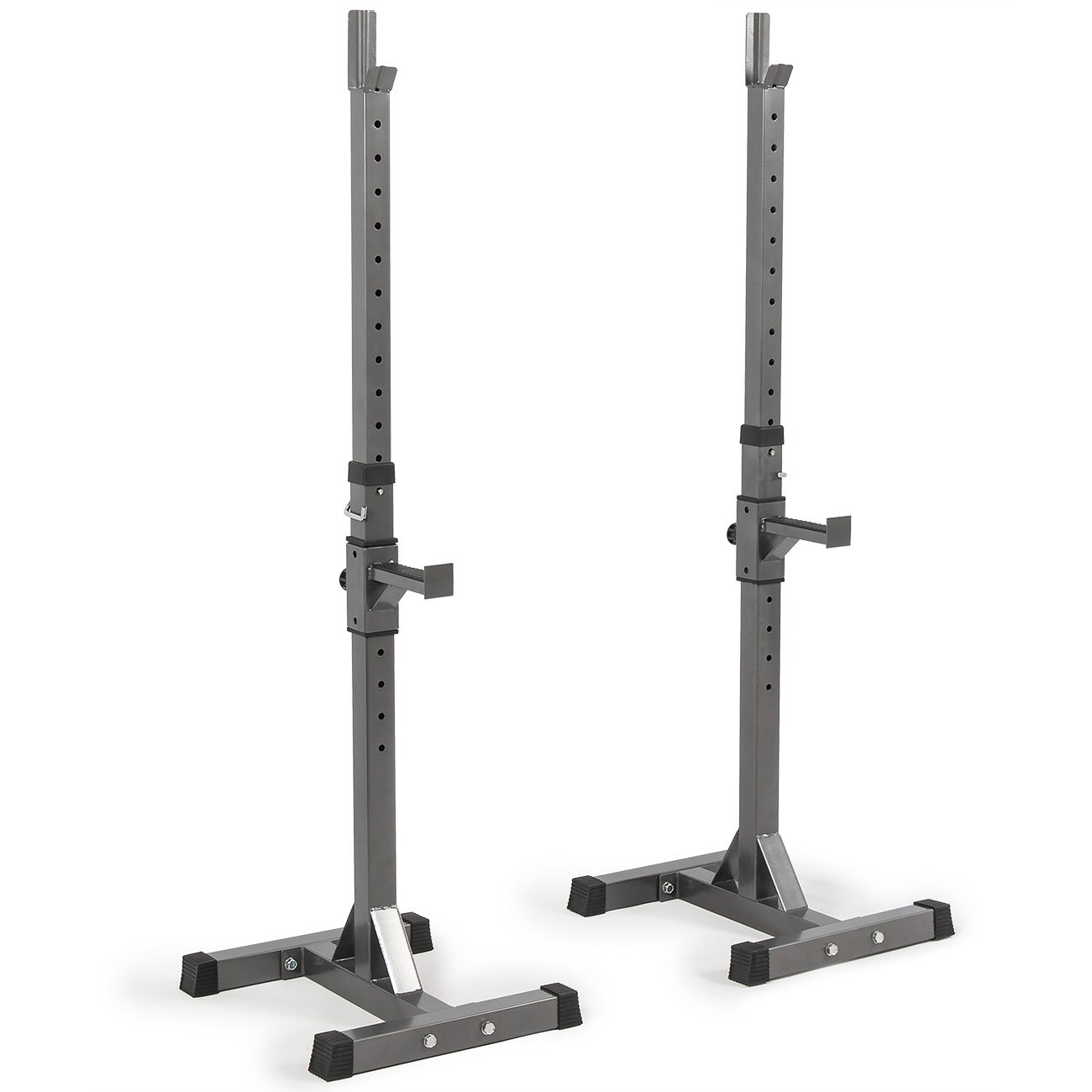 Akonza 2PCS Adjustable Rack Solid Steel Standard Squat Barball Free Press Bench Equipment Training Cross Fit by Akonza