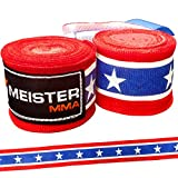 Meister Adult 180' Semi-Elastic Hand Wraps for MMA & Boxing (Pair)