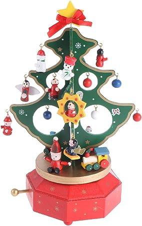 Happyyami árbol de Navidad Caja de música música giratoria Caja Decorativa Colecciones etc. belén Musical: Amazon.es: Hogar