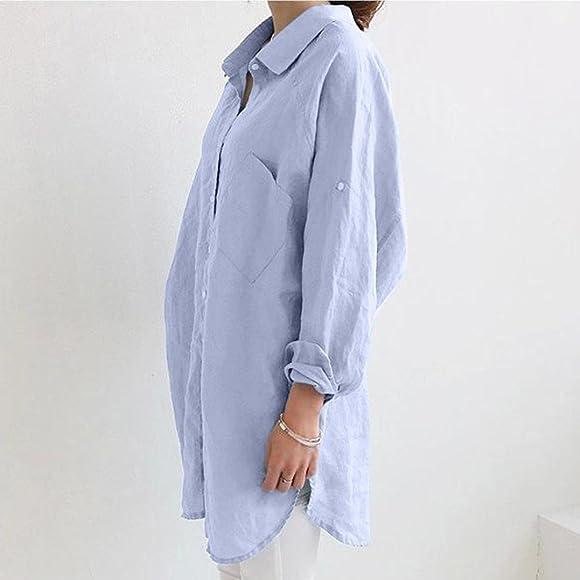 Clearance Sale Litetao New Womens Shirt Linen Long Sleeve