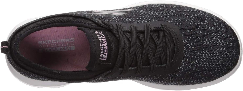 Skechers Damen Go Walk Evolution Ultra-mirab Sneaker, grau, 41 EU Schwarz (Black Light Pink Bklp)
