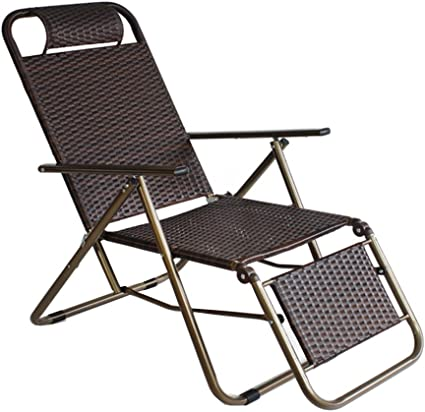SHUSHI DLDL Chaise en Osier renforcée d'été Chaise Pliante