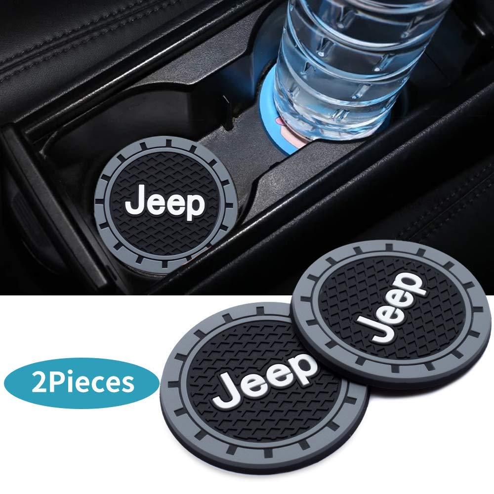 2PC 2.75 Inch Vehicle Auto Cup Holder Insert Coaster Anti Slip Cup Mat For Car Interior Accessories For BMW