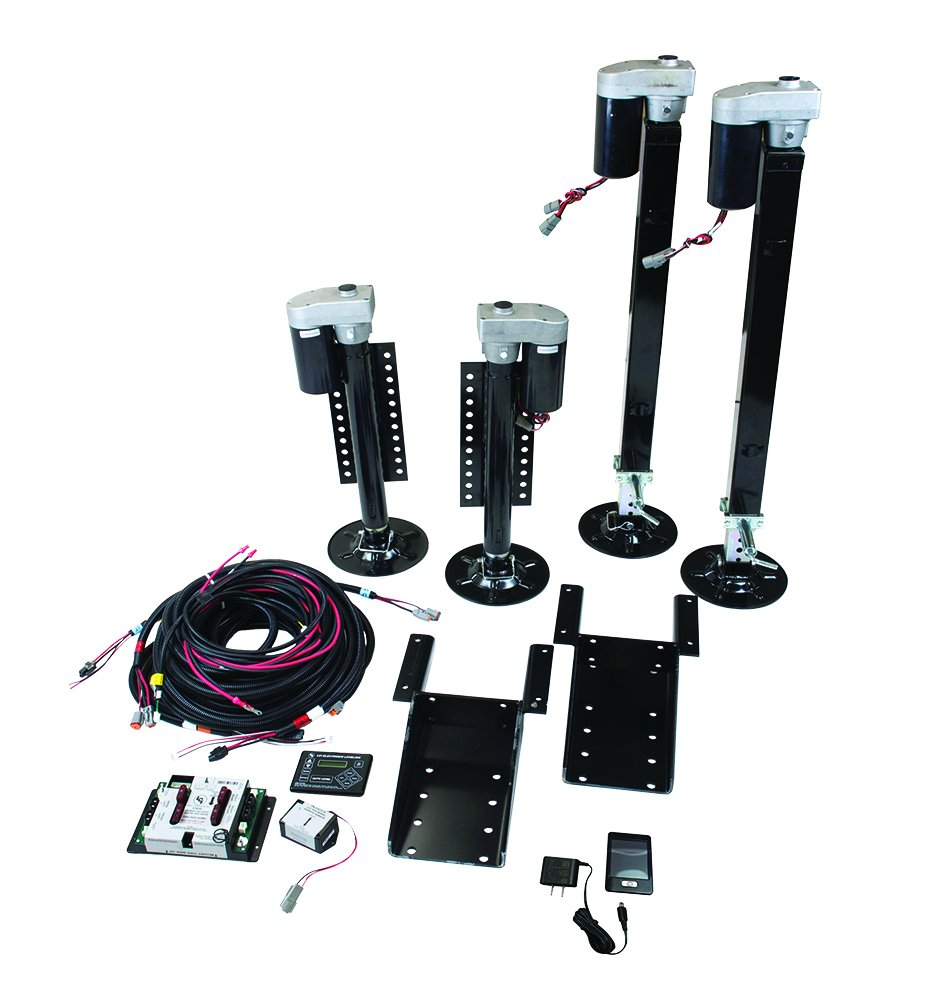 Lippert Components 358590 Ground Control 3.0 Fifth Wheel Leveling Kit with Wireless Remote