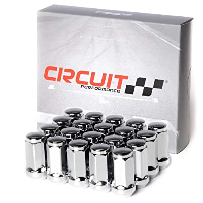 "Circuit Performance 9/16"" Chrome Closed End Bulge Acorn Lug Nuts Cone Seat Forged Steel (20 Pieces): Automotive"