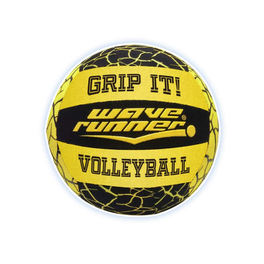 Wave Runner Grip It Waterproof Hydro Volleyball With ''Sure Grip Technology'' Works for Pool Lake River Pond Park Playground Beach Gift Toy Kids Games Bulk Blue Green Yellow Orange (Color May Vary) by Flash Sales