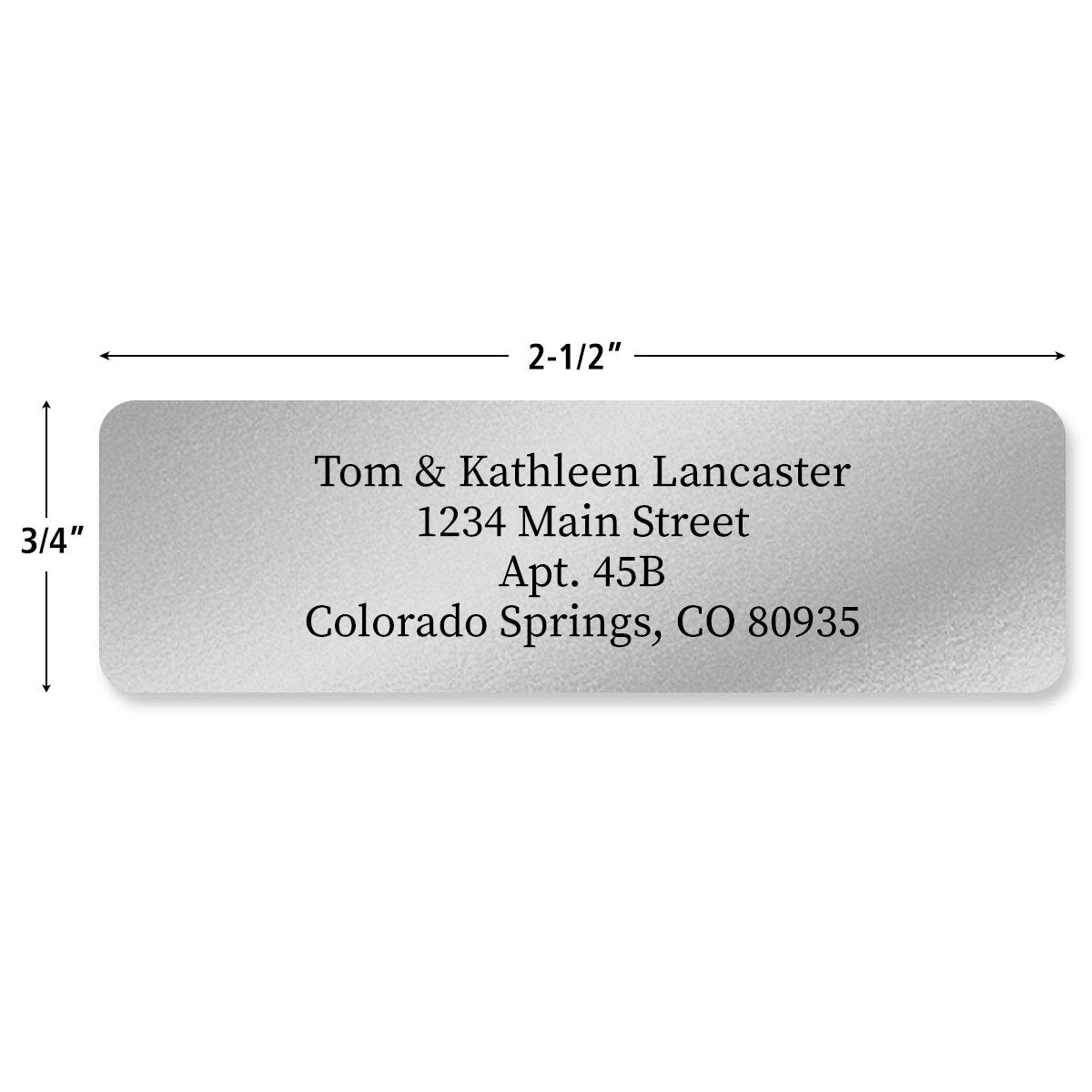 Quantity by Colorful Images Set of Gloss White Rolled Personalized Return Address Labels with Dispenser Self-Adhesive Labels Small