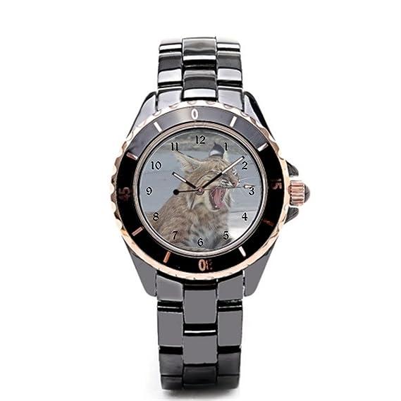 Queensland Buenos relojes Bobcat para hombre cerámica relojes fotos