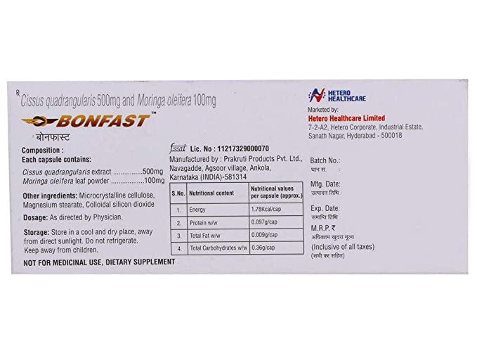 Buy Bonfast Capsules - 10 Count (Pack of 2) Online at Low