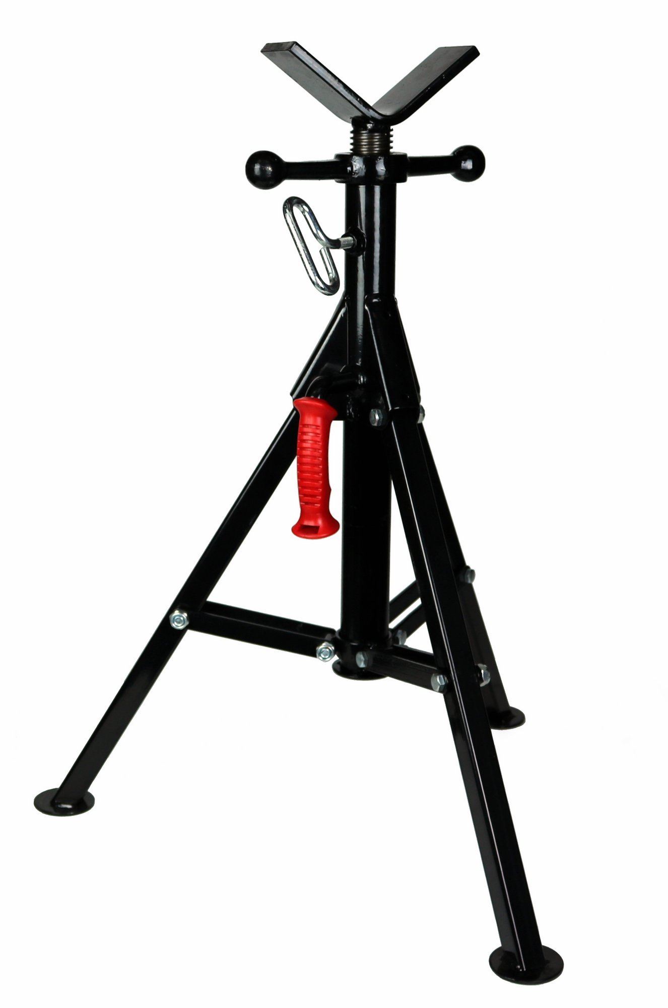 Toledo Pipe 22168 1/8''-12'' Portable Folding V Head Pipe Stand Adjustable 25.5''-39.5'' fits RIDGID Model VF-99 56662