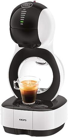 Krups Lumio KP1301- Cafetera de cápsulas automática Dolce Gusto Nestlé de 15 bares de presión, depósito de 1 L para bebidas calientes y frías, 1600 W, color blanco: Amazon.es: Hogar