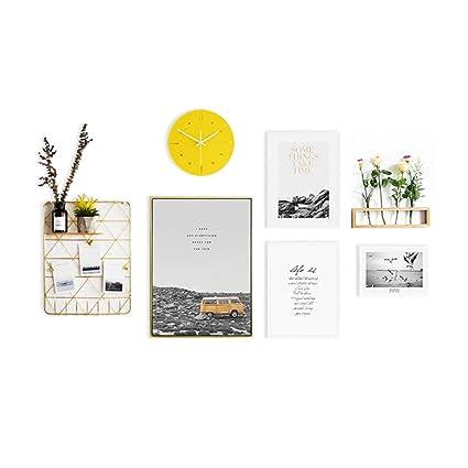 ZYANZ® 4 piezas de colores mezclados marco de fotos pared galería Kit incluye: marcos