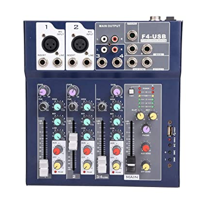 Amazon com: fosa Mixing Console Mini 3-Channel Sound Card