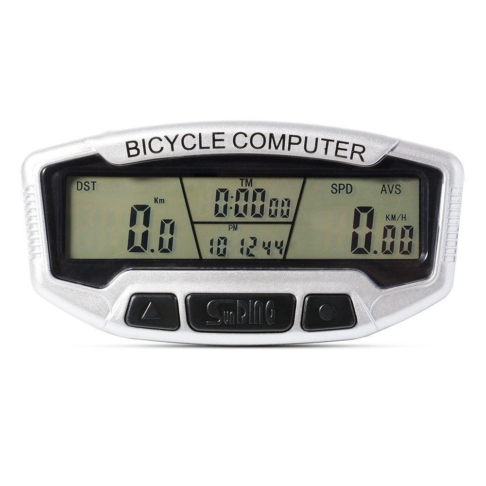 GuDoQi® Digital LCD Monitor Bicicleta Velocímetro Velocímetro Bicicleta Odómetro Velocímetro Con Retroiluminación Verde QBY CE0422