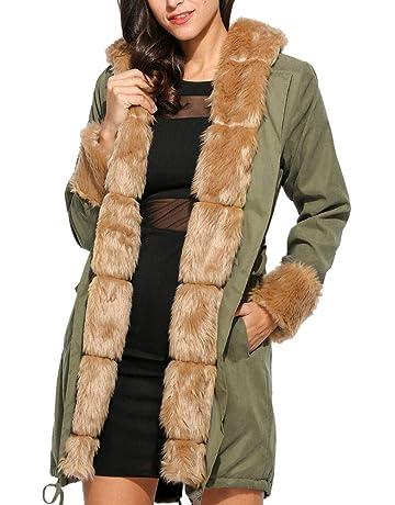 Cebbay Abrigo de algodón Sudadera con Capucha Abrigo Largo de Las señoras Otoño e Invierno Tops