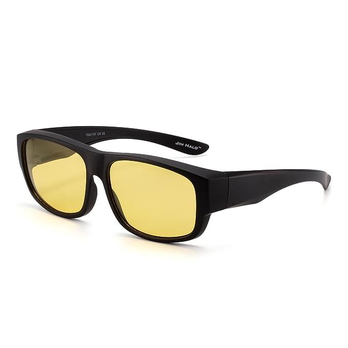 JIM HALO Gafas de Sol Polarizadas Fit Over de Espejo ...