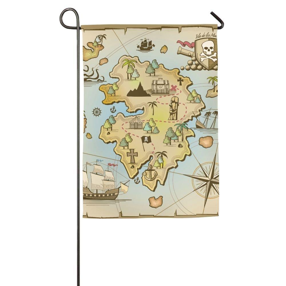Amazon com : Davis Relev 12 x 18 inch Pirate Treasure Island