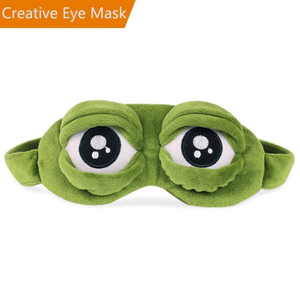 Máscara de rana para dormir/máscara para dormir, máscara de lujo relajante 3D para dormir con bolsillo interior para niños, novia, hombres, mujeres, ...