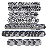 HIFROM 135pcs Nylon Lock Nut M2 M2.5 M3 M4 M5 M6 M8 M10 Stainless Steel 304 Self-Locking Nut Set