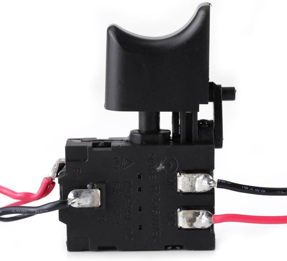 12V Interruptor de Gatillo sin Cuerda del Control de Velocidad del Taladro de la Batería de Litio con la Pequeña Luz