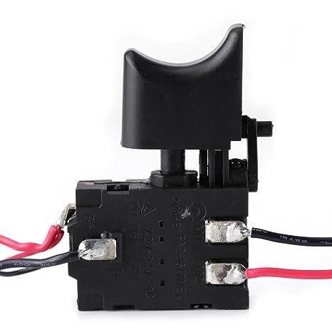 12V Interruptor de Gatillo Interruptor de Taladro Eléctrico ...