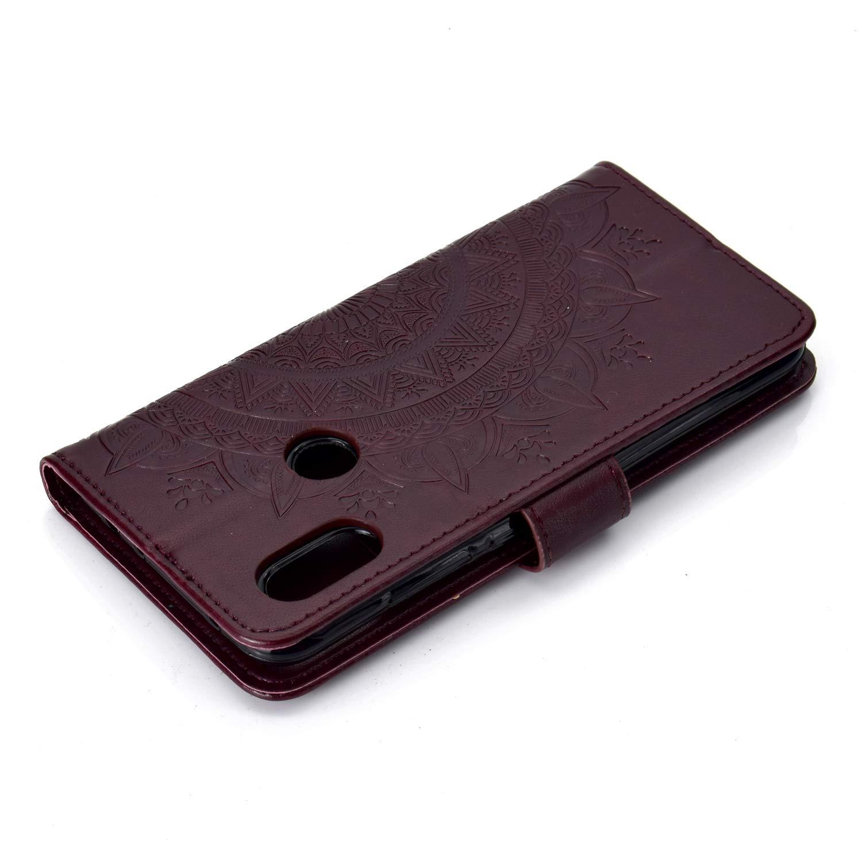 Lomogo Coque Xiaomi Redmi Note7//Note 7 Pro LOHHA080232 Or Rose Housse en Cuir Portefeuille avec Porte Carte Fermeture par Rabat Aimant/é Anti Choc Etui de Protection pour Xiaomi Redmi Note 7