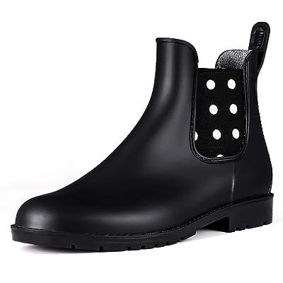 PENNYSUE Women's Ankle Rain Boot Waterproof Short Chelsea Booties Anti Slip | Shoes