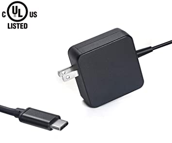 Type USB C Charger Fit for Lenovo ThinkPad X1 Carbon 5th 6th Gen, X1 Tablet  2nd 3rd Generation, Chromebook Flex 11 45W 5A10K34726 5A10K34728 Type-C