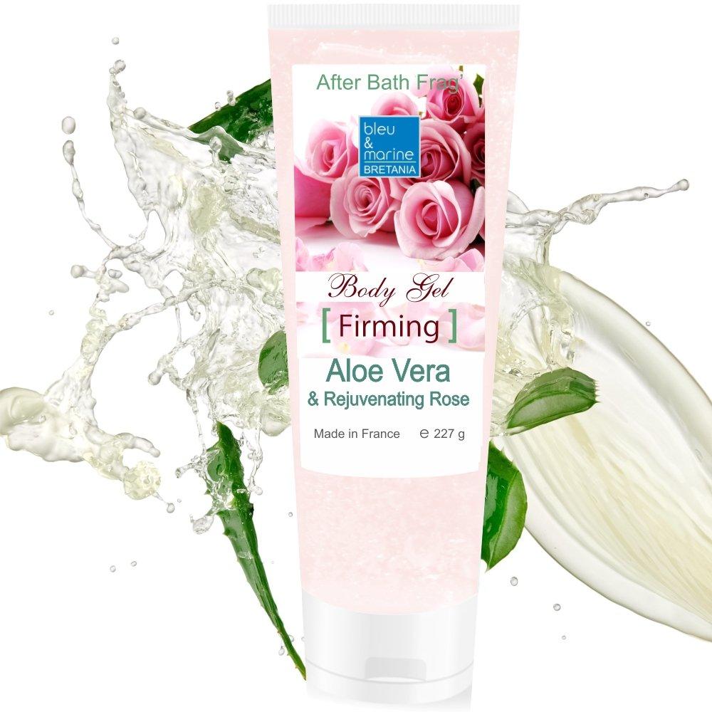 100% Rein natürlich Konzentrat: Aloe Vera Gel & Rose für Gesicht, Haare & Körper 227 g Made in France 3589662778085