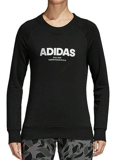 adcf94b8892482 adidas Women Sweatshirts All Cap Running Black Fashion Training Gym CZ5690  New (XS)