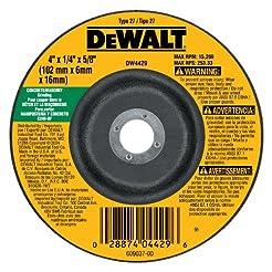 DEWALT DW4429 4-Inch by 1/4-Inch by 5/8-...