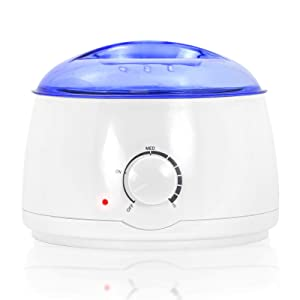 Salon Sundry Portable Electric Hot Wax Warmer Machine for Hair Removal - Blue Lid