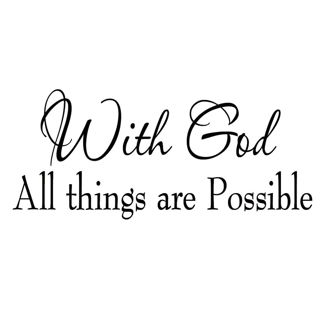 Amazon With God All Things Are Possible Faith Wall Decals