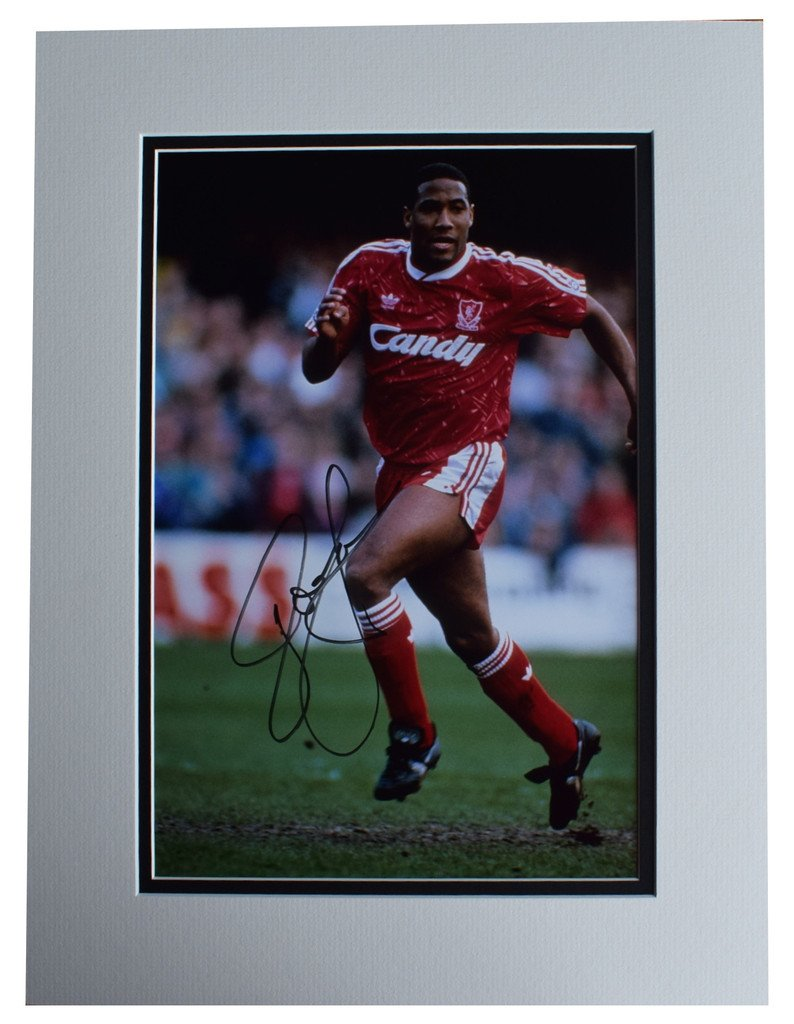 Sportagraphs John Barnes SIGNED autograph 16x12 photo display Liverpool Football AFTAL & COA PERFECT GIFT