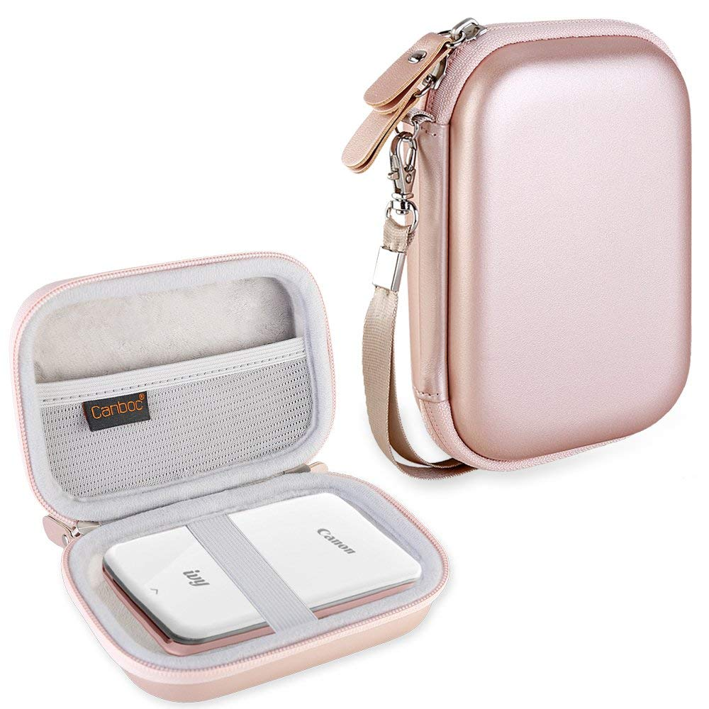Canboc Carrying Case for Canon Ivy Mini CLIQ CLIQ  Instant Camera Printer Wireless Bluetooth Mobile Portable Photo Printe, Rose Gold