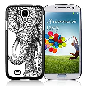 Cool Samsung Galaxy S4 Case Aztec Elephant Durable Soft PC Black Phone Cover