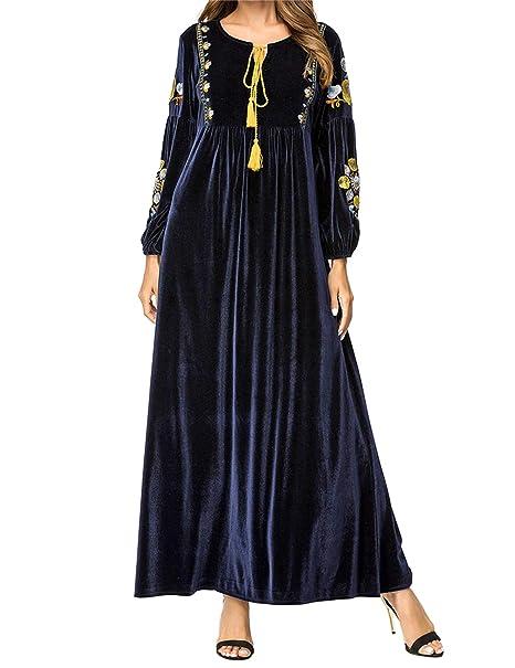 Qianliniuinc Donne Elegante Abbigliamento Islamico Maxi Dress-Manica Lunga  Vestiti Taglie Forti Abiti Islamici  Amazon.it  Abbigliamento 9a4a2047296