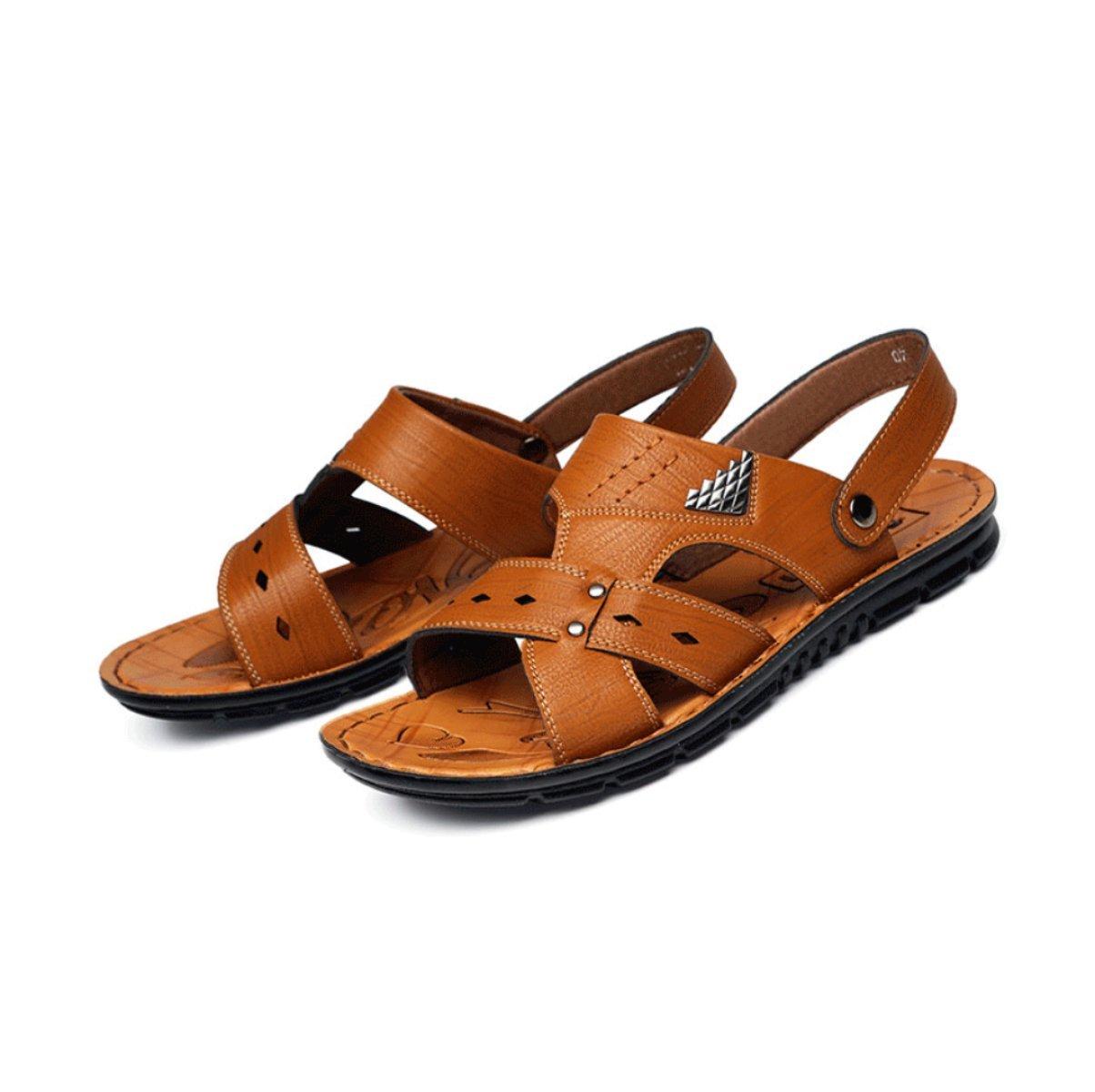 LYZGF Zapatillas Antideslizantes De La Playa De La Moda Casual del Verano De La Juventud De Los Hombres 42 EU|Brown