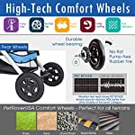 HPZ Pet Rover Premium Heavy Duty Dog/Cat/Pet Stroller Travel Carriage with Convertible Compartment/Zipperless Entry/Reversible Handlebar/Pump-Free Rubber Tires for Small, Medium, Large Pets 13