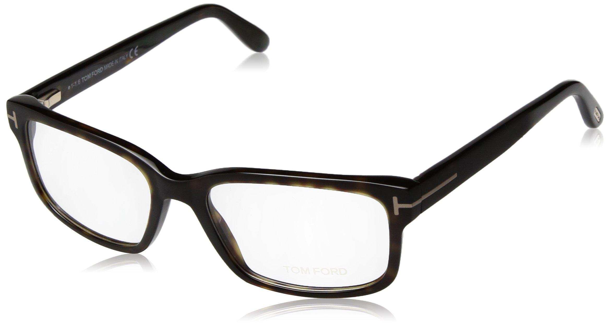 Tom Ford FT5313 Eyeglasses-052 Dark Havana-55mm by Tom Ford