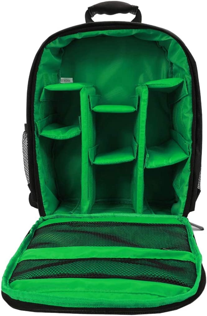 D7000 D5100 Hexiaoyi Photographers DSLR Camera Backpack Camera Bag for DSLR Cameras EOS and for D7100 D3200 /& D3100 D5000 D5300 Color : Green