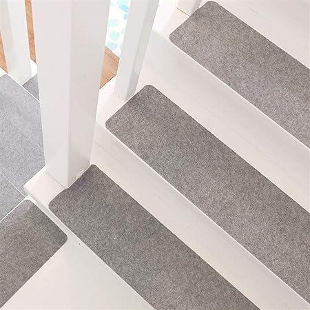 Clong01 Escalera de peldaños de Las escaleras Mat Antideslizante Silencio Libre de contaminación Color sólido cómodos Suaves Pasillo Cocina Retro Escalera de la Alfombra 55X20 cm, 15 Piezas: Amazon.es: Hogar