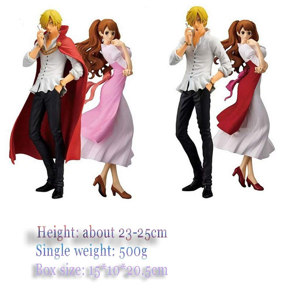 LLDDP Anime Model One Piece Wedding Cake Decorations Mountain Management Brin Fiancé Scene Model 2 Set Home Decorations, Art Collection Game Action Figures Cartoon Toys