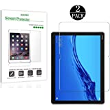 Bundle of 2, RKINC for Mediapad M5 Lite 10.1Screen Protector, Crystal Clear Tempered Glass Screen Protector [9H Hardness][2.5D Edge][0.33mm Thickness][Scratch Resist] forHuawei Mediapad M5 Lite 10.1