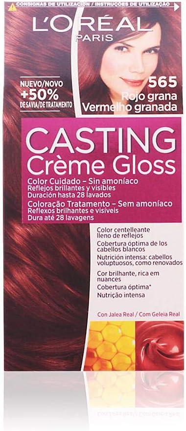L'Oreal Paris Casting Crème Gloss Coloración Sin Amoniaco Casting Créme Gloss 565 Rojo Grana