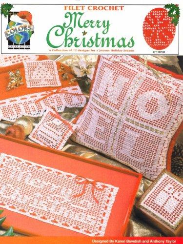 Filet Crochet Merry Christmas - CFT 00100