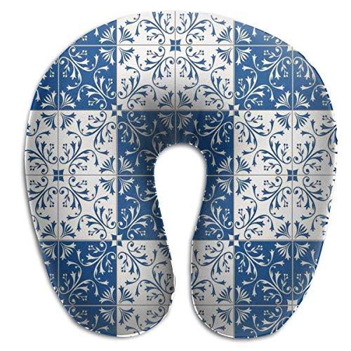 Super Foam Mosaic - TRUSTINEEB Turkish Portuguese Style Mosaic Leisure Travel Neck Pillow Super Soft Memory Foam U Shape