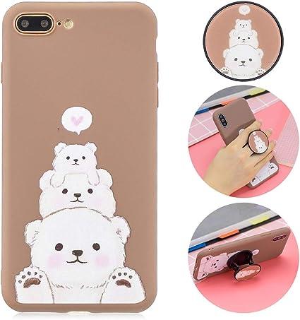 CoqueCase Cover iPhone 8 Plus Silicone,Morbido con 3D Disegni ...