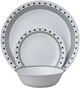 Corelle Livingware 12 Piece Set City Block Pattern